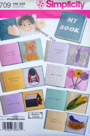 Baby Soft Book Pattern  FREE SHIPPING