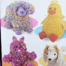 Stuffed, Loopy Animals Pattern 3933 FREE SHIPPING