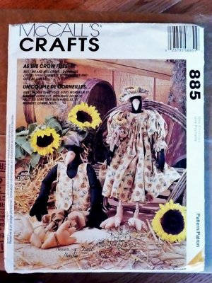 Crow Dolls with Clothes pattern M 885 FREE SHIPPING