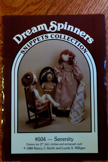 Dream Spinners Doll & Mini Autograph Quilt #504 Serenity  FREE SHIPPING
