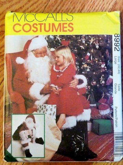 Santa Claus Costume, Bag & 25-inch Doll pattern M 8992  FREE SHIPPING