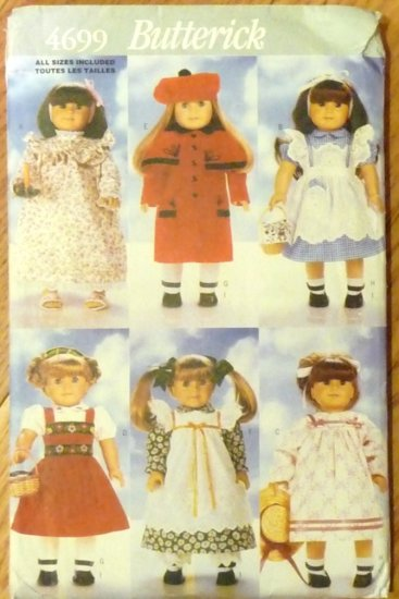 Coat, Hat, Wardrobe B 4699 pattern for 18-inch Doll  FREE SHIPPING