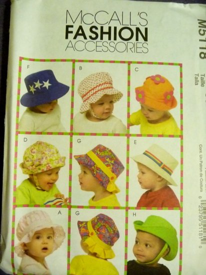 Infants Hats Pattern  McCalls 5118 - FREE SHIPPING