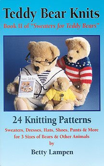"""Teddy Bear Knits Book II of """"Sweaters for Teddy Bears"""" - FREE SHIPPING"""