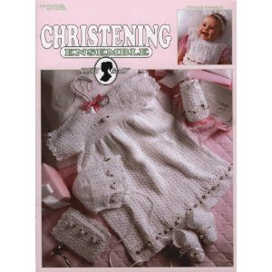 Christening Ensemble Includes Bottle Cover, Pacifer Holder, more. Crochet Pattern - FREE SHIPPING