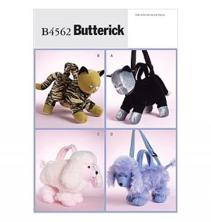 Soft Animal Purses Pattern B 4562 - FREE SHIPPING
