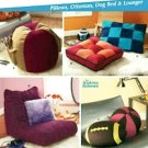 Lounger, Ottoman, Dog Bed & Sport Pillows Pattern S 4524 - FREE SHIPPING