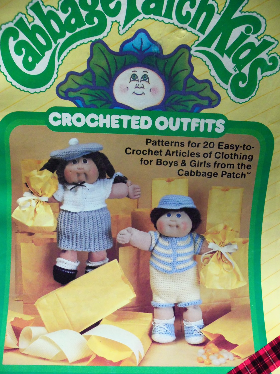 Vintage ~ Xavier Roberts Presents Cabbage Patch Kids Crocheted Outfits # 7867