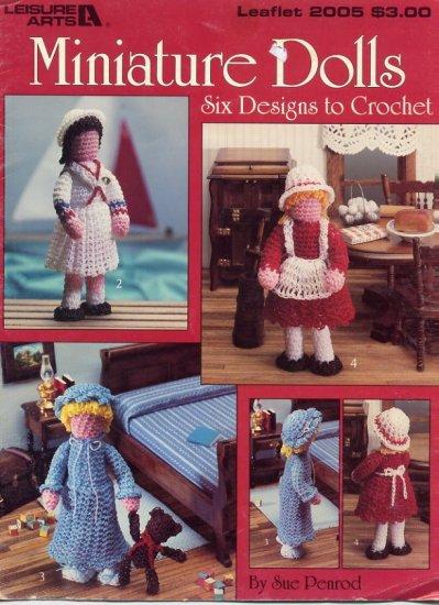 Miniature Dolls Six Designs To Crochet - Leisure Arts 2005