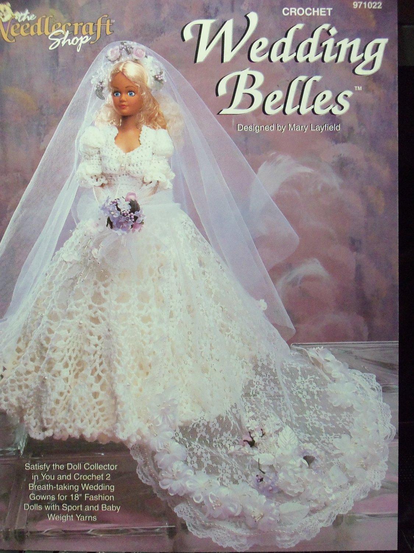 2 Crochet Bridal Gown Patterns For 18 Inch Fashion Dolls