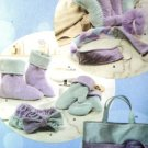 Spa Accessories, Mitts And Boots In Three Sizes Pattern S 4495 - FREE SHIPPING