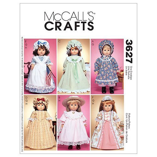 Colonial, Prarie Outfit Pattern for 18 inch Doll M 3627 - FREE SHIPPING