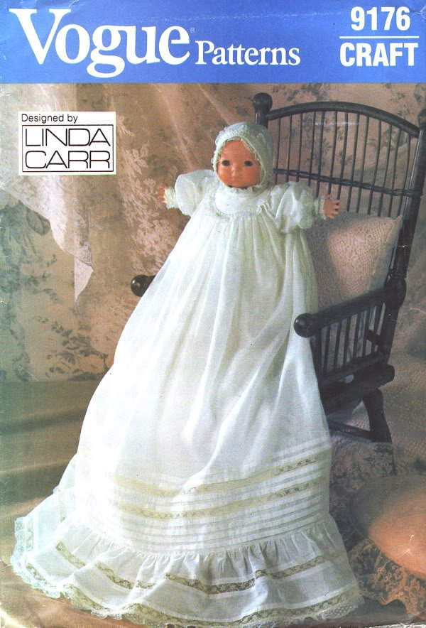 Vogue 614 Doll Christening Dress & Accessories Pattern - FREE SHIPPING
