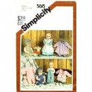 Vintage Baby Doll Wardrobe Pattern S 5615 - FREE SHIPPING