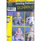 Sewing For Dummies Baby Doll Clothes S 7071 - FREE SHIPPING