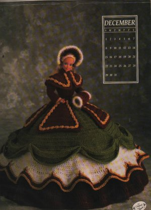 Annie's Calendar Bed Doll Society 1991 Collectors Series, Miss December Barbie - FREE SHIPPING