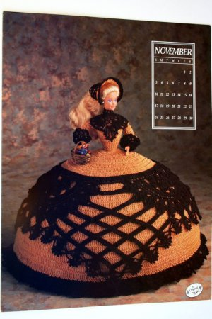 Annie's Calendar Bed Doll Society 1991 Collectors Series, Miss November Barbie - FREE SHIPPING