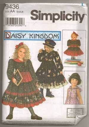 Daisy Kingdom Dress With Doll Dress Pattern S 9436 - FREE SHIPPING