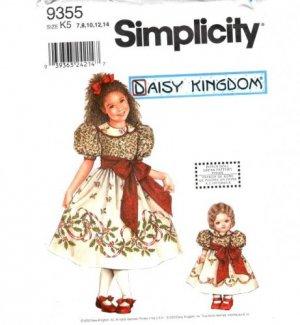 Daisy Kingdom Dress With Doll Dress Pattern S 9355 - FREE SHIPPING