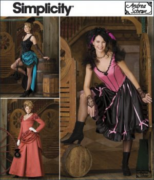 Saloon Girl Dresses & 1800 Gown Pattern S 2851 - FREE SHIPPING