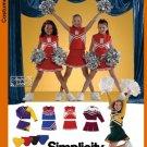 Girls Cheerleader Costumes Pattern S 4040 - FREE SHIPPING