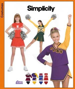 Girls Cheerleader Costumes Pattern S 3689 - FREE SHIPPING