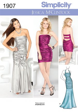 Prom, Party, Special Occasion Dress Pattern S 1907 Jessica McClintock - FREE SHIPPING