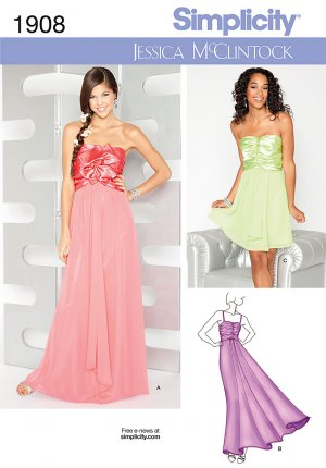 Prom, Party, Special Occasion Dress Pattern S 1908 Jessica ...