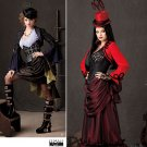 Steampunk  Costume w/ Bustier Pattern S1819 - FREE Shipping