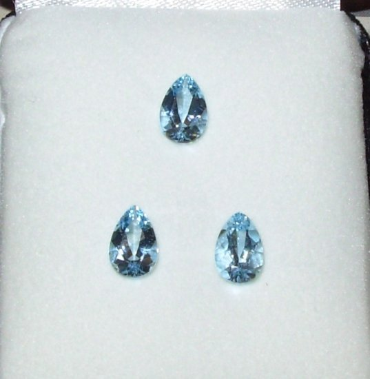 AQUAMARINE PEAR SHAPED CUT AND POLISHED NEW MINE AMAZING COLOR GEMSTONES
