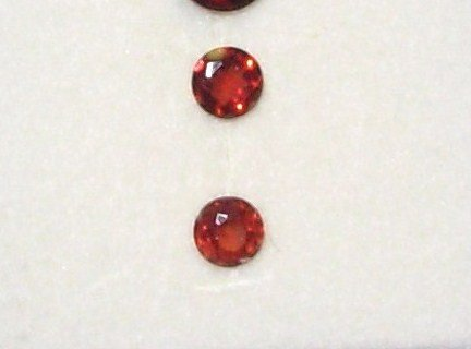 PYROPE GARNET ROUNDS SET OF 2 CUT LOOSE GEMSTONES