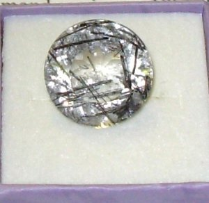 GEMSTONE TOURMALINATED QUARTZ ROUND CUT HUGE LOOSE GEMSTONES