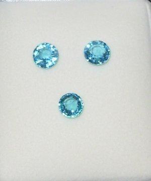 NEON BLUE APATITE ROUND 7MM GEMSTONE WINDEX BLUE