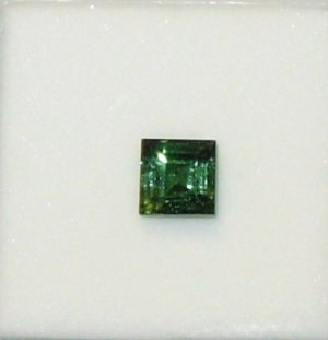 GEMSTONE CHROME DIOPSIDE 7X7 PRINCESS CUT DARK GREEN