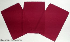 A set of 3 microfiber cleaning cloth Color Burgundy / Size 4X6 inch