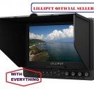 "Lilliput 7"" 665 1024x600  On Camera Monitor+LP-E6 Battery HDMI input + BNC video"
