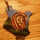Painted Lion Keychain