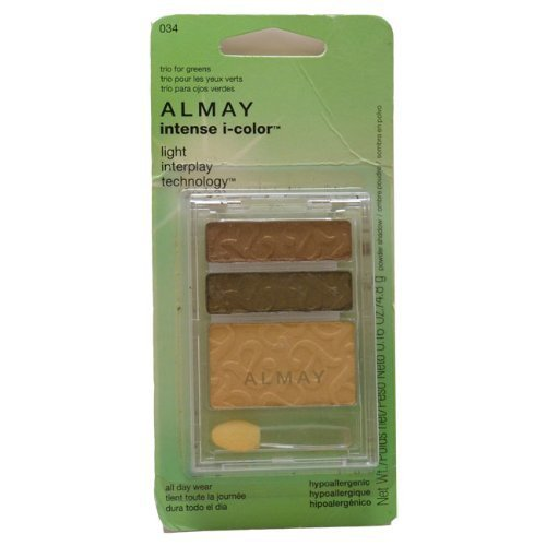 Almay Intense I-Color Powder Shadow, Trio for Greens 034