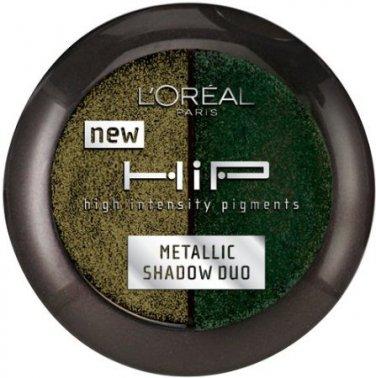 L'Oreal HiP Studio Secrets Professional Metallic Duos, Gunmetal # 306, 0.08 Oz, 1 Pack