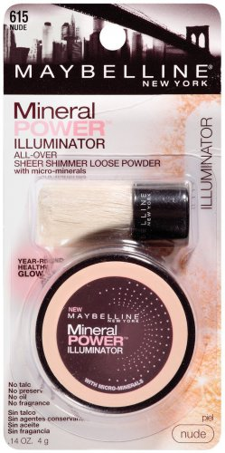 Maybelline New York Mineral Power Illuminator, Nude 615, 0.14 Ounce