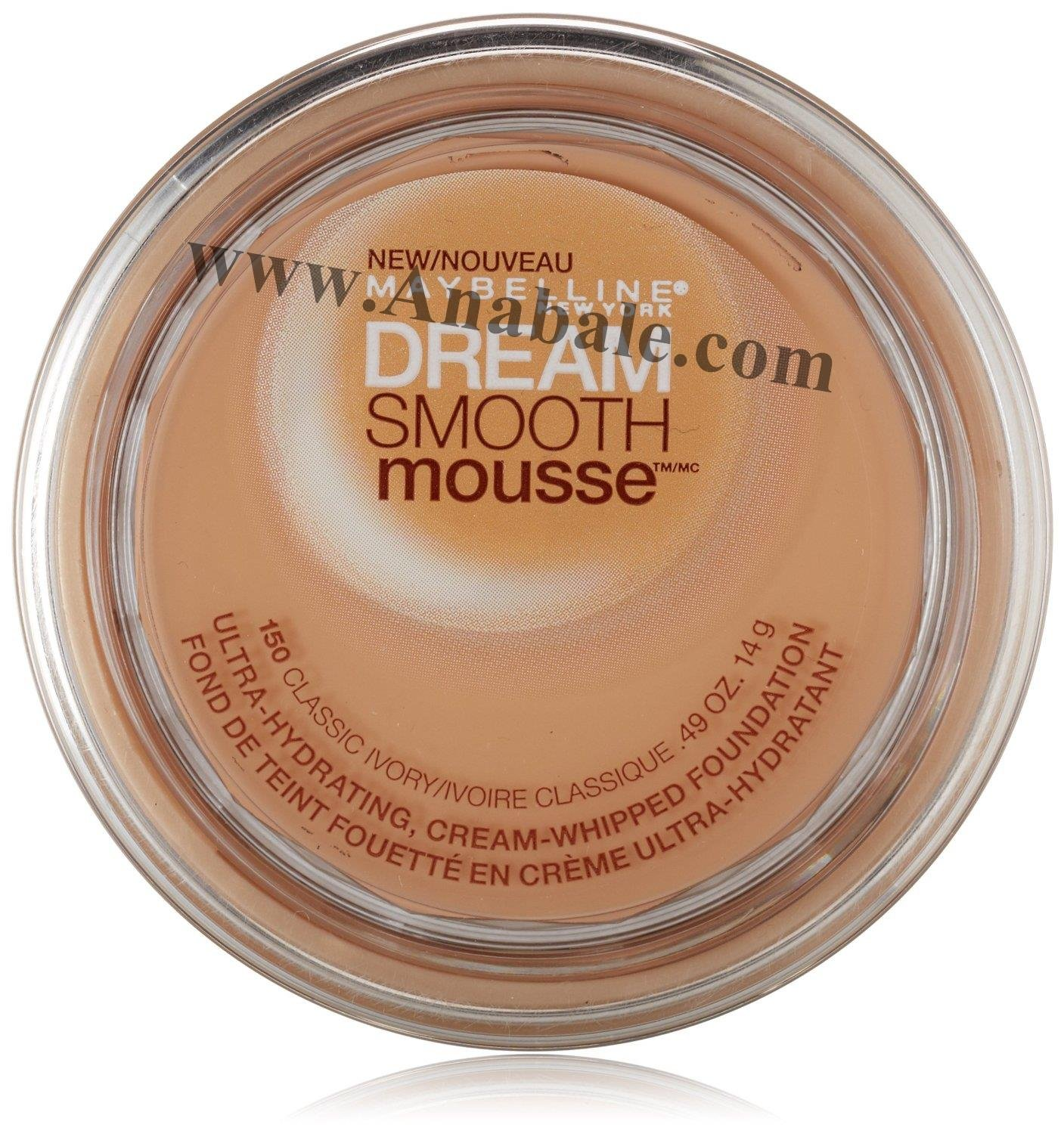 Maybelline New York Dream Smooth Mousse Foundation, Classic Ivory 150, 0.49 Ounce