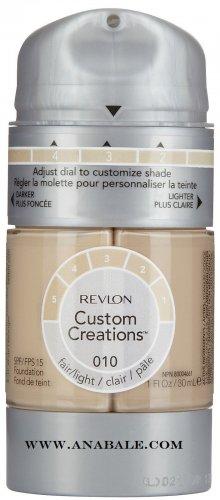 Revlon Custom Creations Foundation 010 Fair/Light, 1 Pack WWW.anabale.com