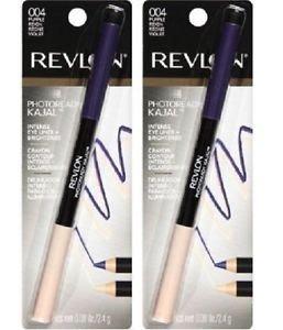 (Lot of 2) Revlon PhotoReady Kajal Intense Eyeliner + Brightener, Purple Reign 004 - 0.08 oz
