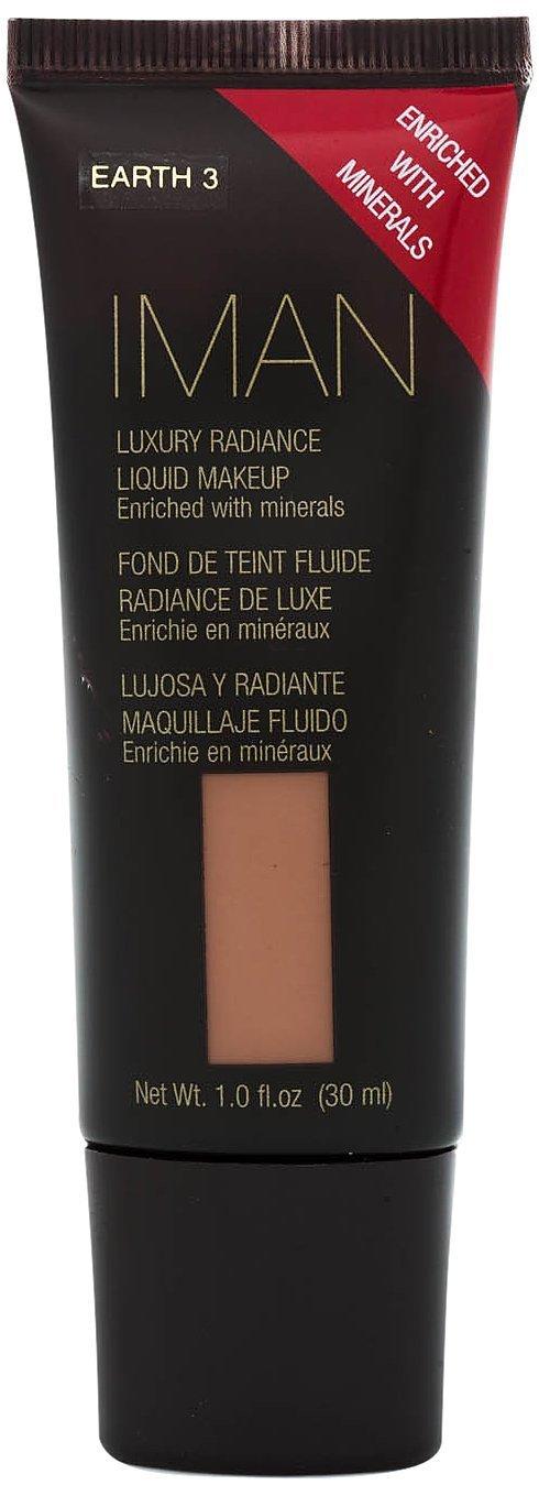 IMAN Luxury Radiance Liquid Makeup, Earth 3,  1 fl oz