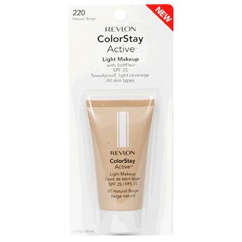 Revlon ColorStay Active Light Makeup with SoftFlex, All Skin Types, Natural Beige 220