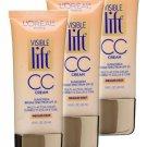 (3 pack) L'Oreal Paris Visible Lift CC Cream, Medium/Deep 181