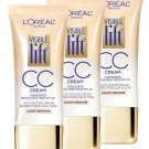 (3 pack) L'Oreal Paris Visible Lift CC Cream, Light/Medium 180