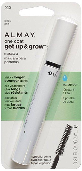 ALMAY One Coat Get Up & Grow Waterproof Mascara, 020 Black