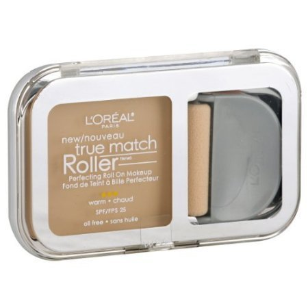 Loreal True Match Roller Roll On Makeup, Perfecting, Warm, Porcelain/Light Ivory W1-2 - 0.30 oz