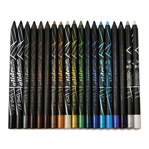 (3 Pack) L.A. Girl Glide Eye Liner Pencil 368 Silver Streak